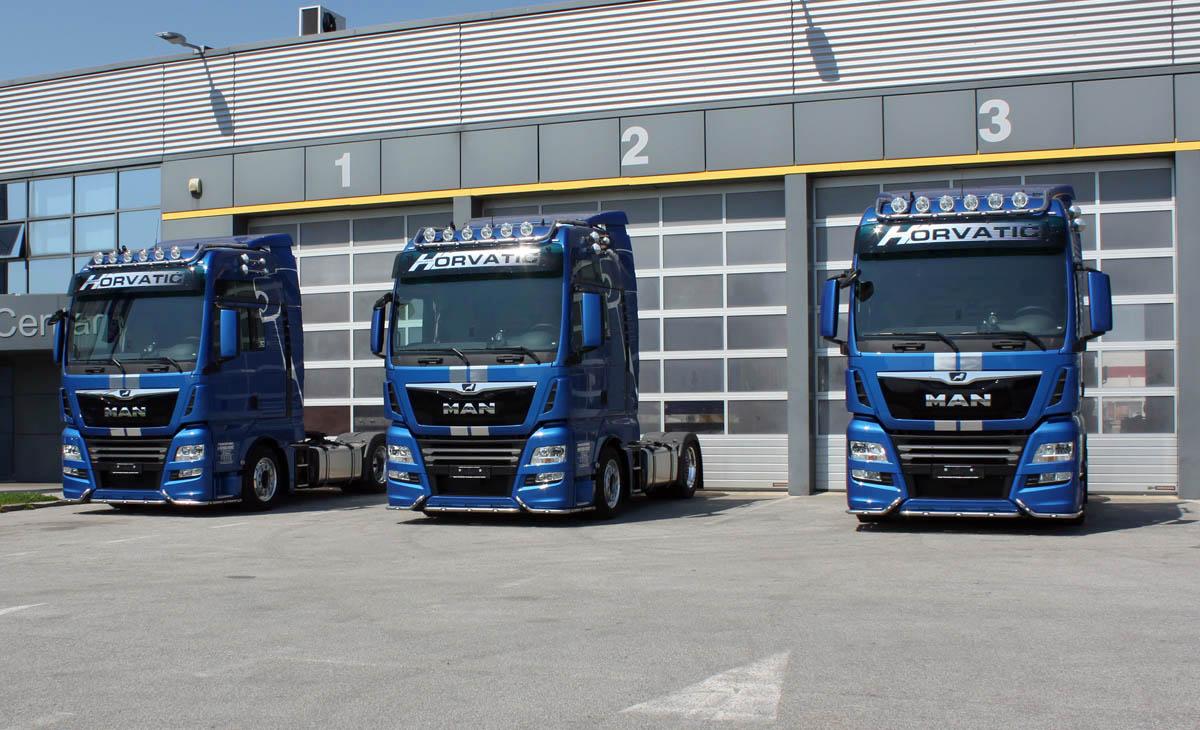 Tri TGX-a za Transporte Horvatić