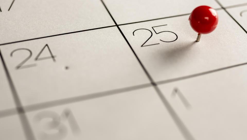 Poznate datume ključnih dogodkov v 2018?
