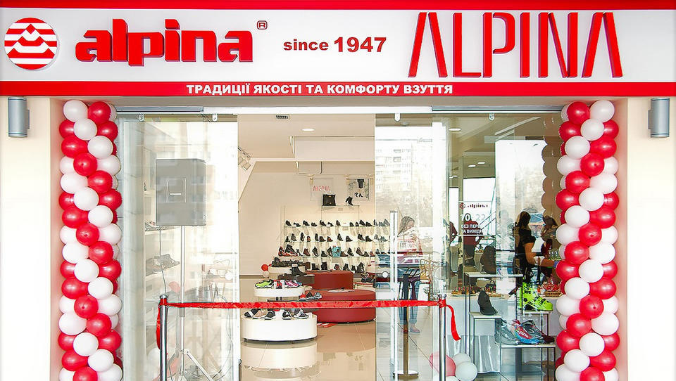 Alpina odprla prvo franšizno trgovino v Ukrajini