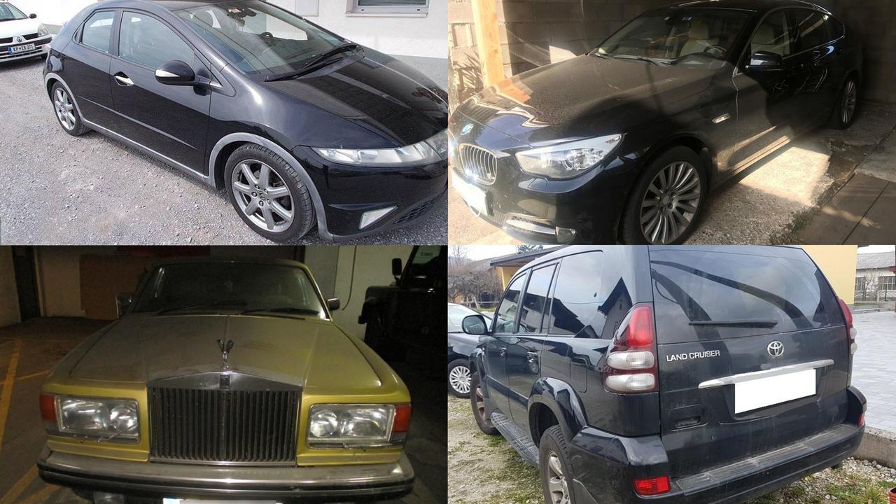 Vozila na dražbah: luksuzni BMW, škoda octavia, rolls-royce, dostavniki …