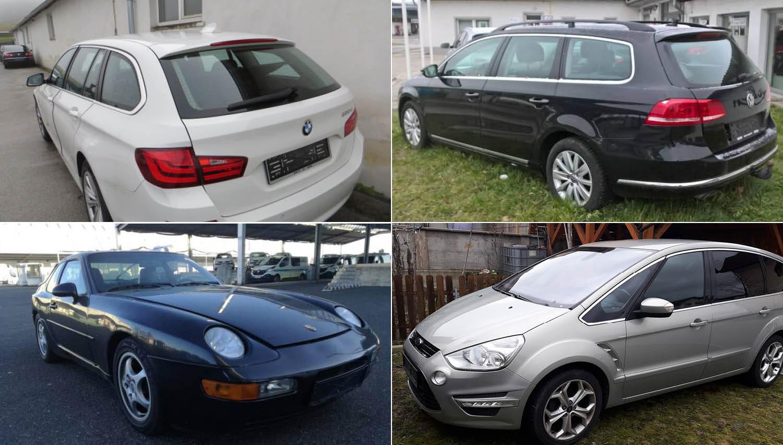 Vozila na dražbi: dostavniki, passat, porsche, BMW serije 3 in 5 ter ford S-max