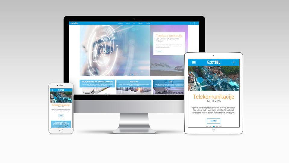 Spletna stran podjetja Iskratel – nova, enostavna in prijazna uporabniška izkušnja