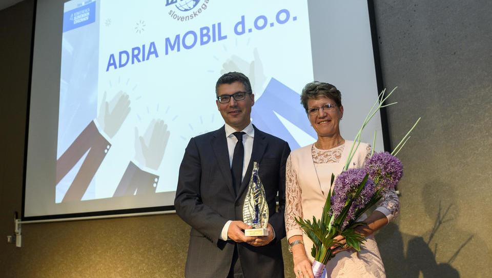 Adria Mobil zmagovalec slovenskega izvoza