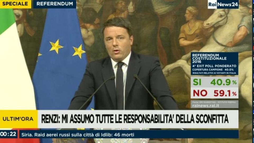 Italijanski referendum je padel, premier Renzi odstopil – kaj zdaj