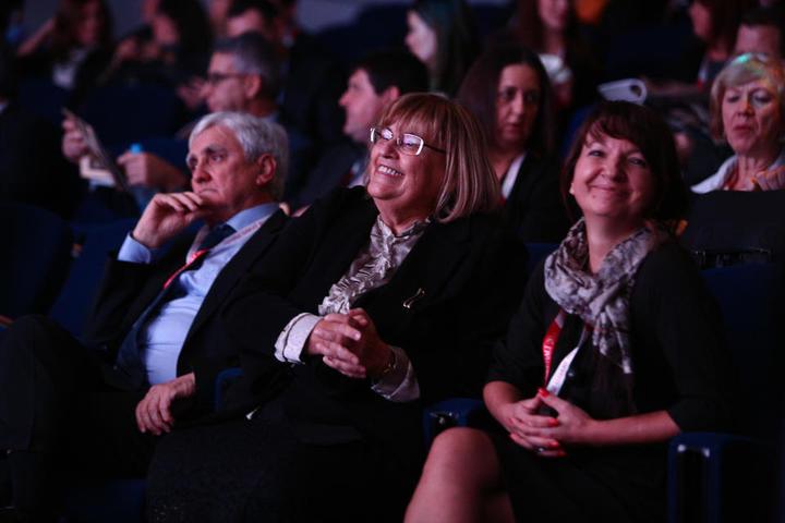 Janez Prasnikar, Metka Tekavcic, Vanja Hrovat, 19. Poslovna konferenca Portoroz, PKP, 30.11.2017 Foto: Jernej Lasič