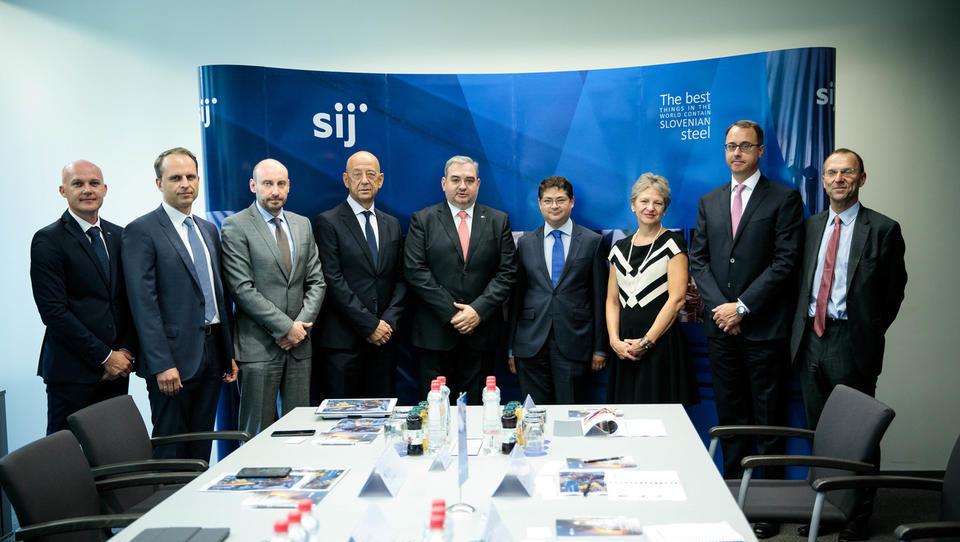Generalna direktorica EBRD Charlotte Ruhe  se je sestala z upravo skupine SIJ