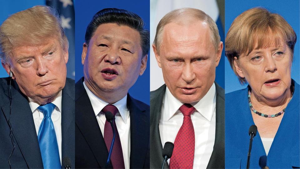 Če se udarijo Trump, Ši, Putin  in Merklova, bo bolelo nas vse
